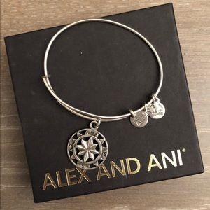Alex & Ani- Compass bangle
